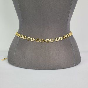 Gold Tone Chain Link Belt Size S-M